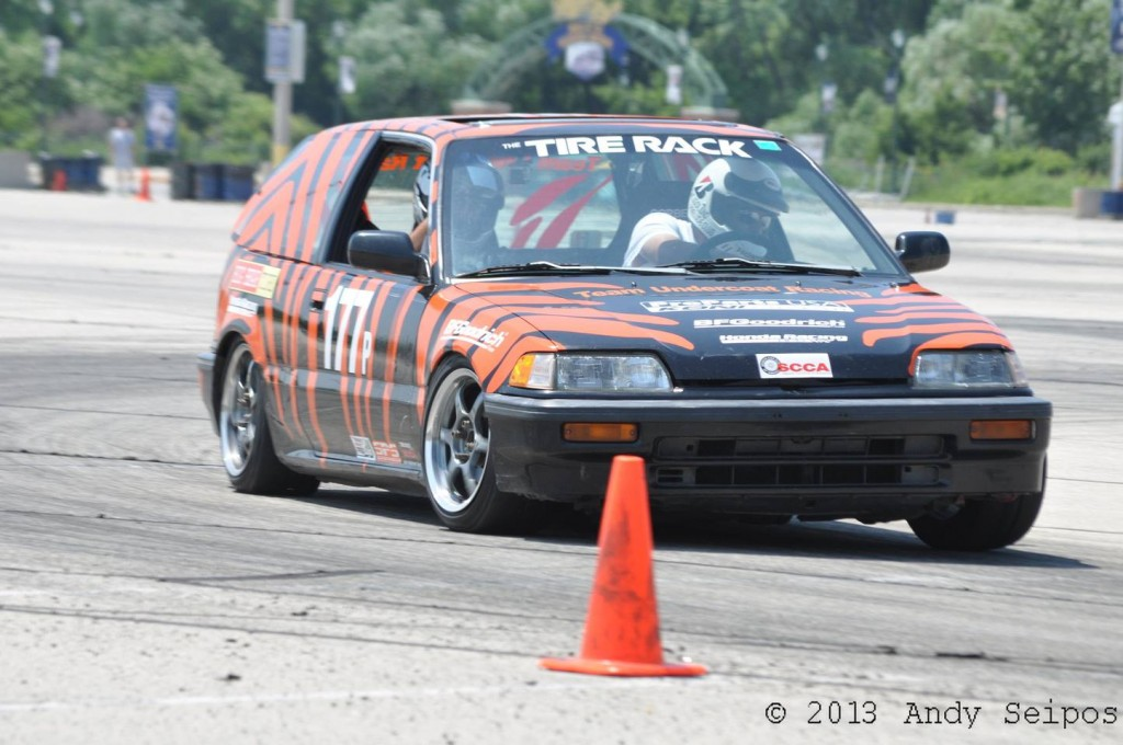 Jason Frank in the tiger civic.