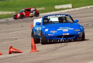 Neal Tovsen driving his CSP Miata