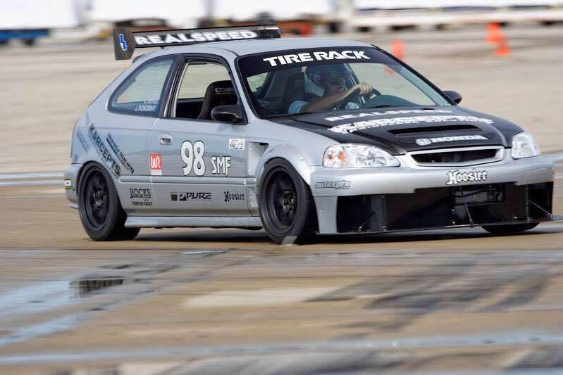 Jason Tipple in his SMF Civic SI