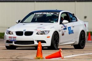 Teddie Alexandrova in the BMW M3