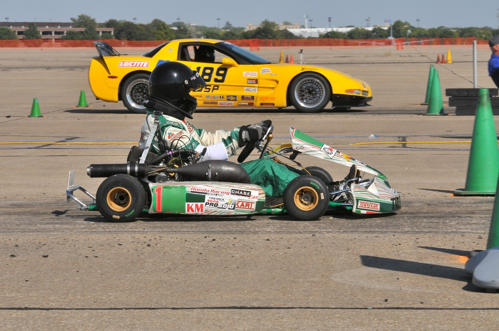 Paul Russell KMod Champion lined up at the ProSolo Autocross Challenge against Joe Thorp