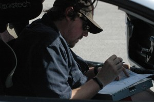 Dave Ogburn Taking track map notes