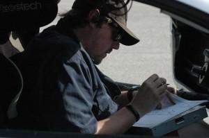 Dave Ogburn Taking track map notes