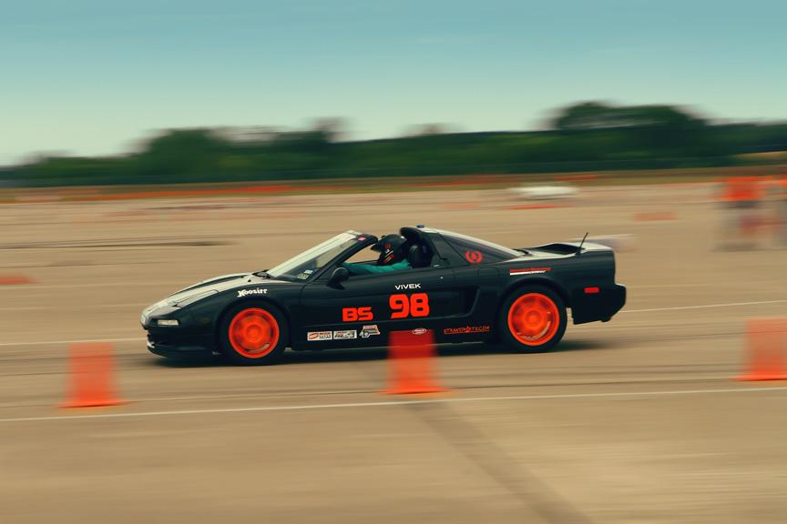 Vivek Goel autocrossing his Acura NSX