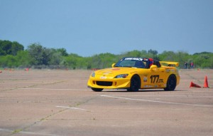 Vivek driving a Honda S2000 prepped for STR Autocross