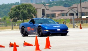 Vivek driving a Z06 Corvette prepped for AS Autocross