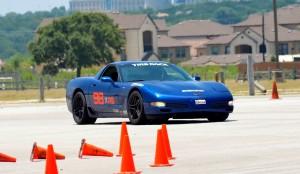 Vivek driving a Z06 Corvette prepped for AS Autocross