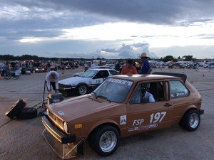 Randy Pobst in the 1977 VW rabbit at SCCA Solo Nationals Autocross